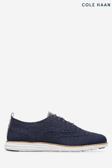 Cole Haan Blue OriginalGrand Stitchlite Wingtip Oxford Lace-Up Shoes
