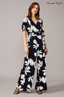 Phase Eight Cream Cerys Floral Print Jumpsuit