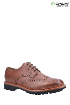 Cotswold Brown Quenington Commando Goodyear Welt Lace Up Shoes