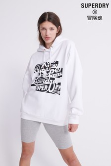 Superdry Brand Language Oversized Hoody