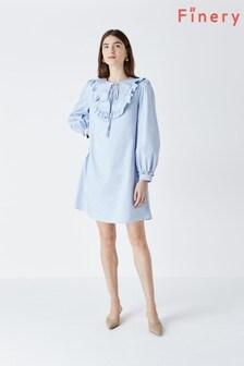 Finery Paton Frill Placket Mini Dress