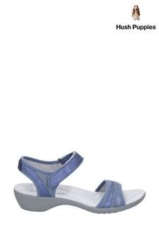 Hush Puppies Blue Athos Touch Fasten Sandals