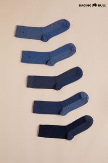 Raging Bull Blue Mens Socks Five Pack