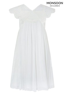 Monsoon Ivory Zita Crochet Dress
