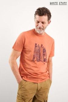 White Stuff Surfboard Organic Graphic T-Shirt
