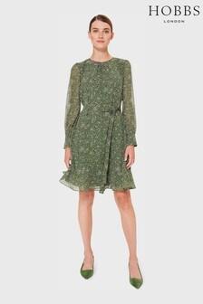 Hobbs Green Frances Spot Dress