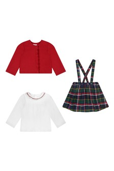 Baby Girls Tartan Cotton Skirt Set