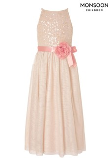 Monsoon Natural Truth Sequin Maxi Dress