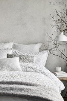Murmur Nara Jacquard Circles Textured Cotton Pillowcase