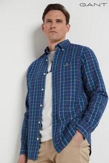 GANT Regular Cotton Linen Check Shirt