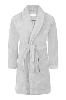 Kids Grey Organic Cotton Bath Robe