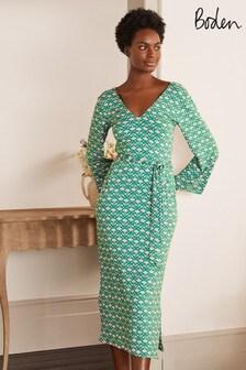 Boden Blue Amy Jersey Midi Dress