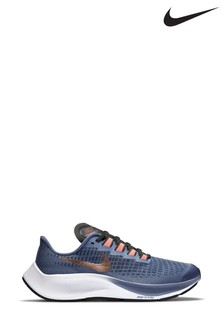 Nike Run Navy/Gold Zoom Pegasus 37 Youth Trainers