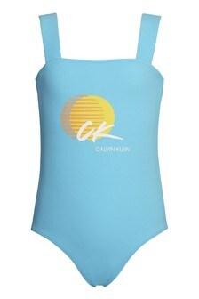 Calvin Klein Blue CK Wave Swimsuit