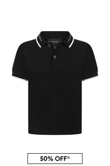 Emporio Armani Boys White Polo Top