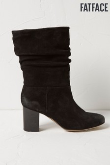 FatFace Black Meredith Mid Slouchy Boots