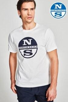 North Sails White Graphic T-Shirt