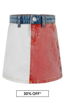 Girls Colourblock Denim Skirt