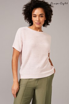 Phase Eight Pink Naomi Tape Yarn Knit Jumper