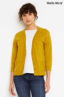 White Stuff Mustard Ye Anchor Cardigan