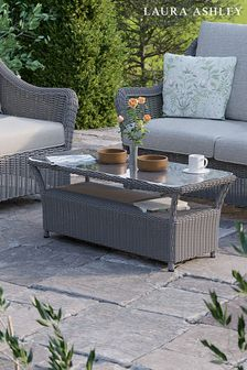 Bourton Grey Glass Top Coffee Table by Laura Ashley
