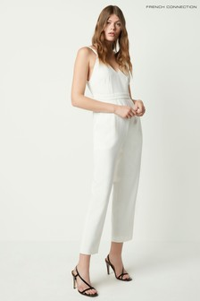 French Connection White Anana Whisper Strappy Jumpsuit