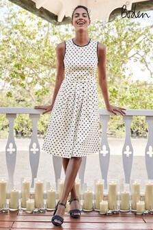 Boden White Maddie Dress