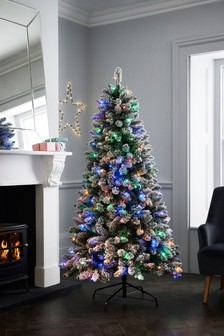 Lit Snowy 6ft Lit Christmas Tree