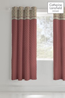 Kashmir Lined Eyelet Curtains by Catherine Lansfield