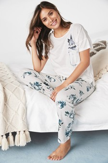 Bunny Print Cotton Blend Pyjamas