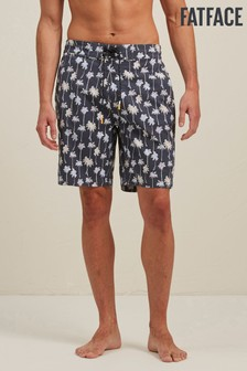 FatFace Grey Camber Palm Print Swimmer Shorts