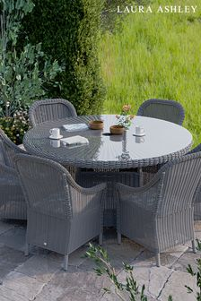 Bourton Dining Set with 6 Dining Chairs by Laura Ashley