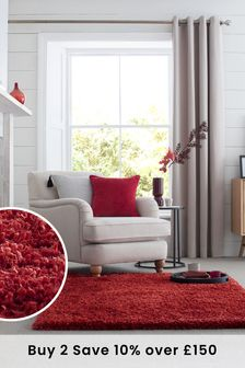 Red Fozzy Rug