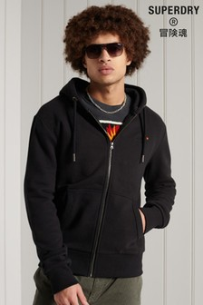 Superdry Black Zip Hoody