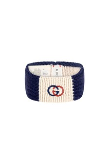 Girls Navy Knitted Headband