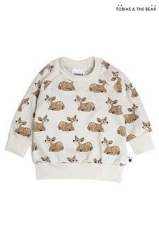 Tobias & The Bear Birch Grey Fawn Terry Sweatshirt Top
