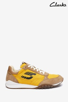 Clarks Tan Combi CraftLo Lace Trainers