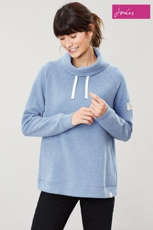 Joules Blue Nadia Ribbed Sweatshirt