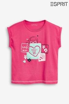 Esprit Pink Patchwork T-Shirt