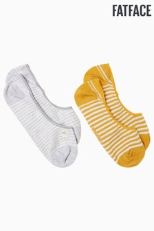 FatFace Grey Embroidered Daisy Footsies Two Pack