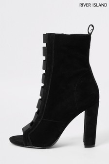 River Island Black Elasticated Shoe Boots