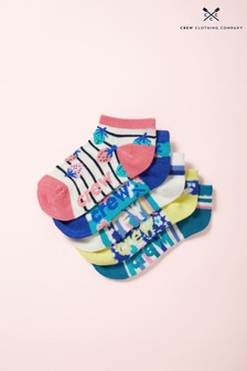 Crew Clothing Pink Trainer Socks Five Pack