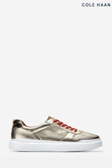Cole Haan Gold Grandpro Rally Court Lace-Up Trainers
