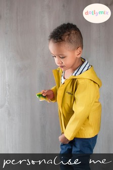 Personalised Yellow Raincoat by Dollymix