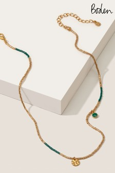 Boden Gold Tone Beaded Necklace