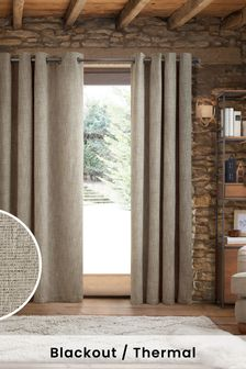 Chunky Weave Eyelet Blackout/Thermal Curtains