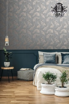 Art For The Home Grey Boutique Pisces Wallpaper