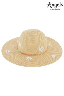 Angels By Accessorize Natural Daisy Sparkle Floppy Hat