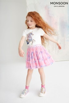 Monsoon Ivory Disco Nina Unicorn Tie Dye Dress