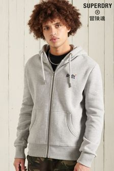Superdry Grey Zip Hoody